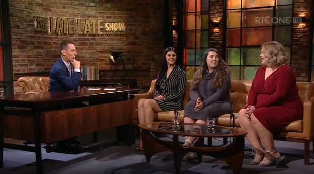 Tia Duffy, Sarah Tyrrell and Stacey Dineen discussed the body positivity movement with host Ryan Tubridy.