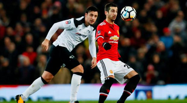 Henrikh Mkhitaryan Starts - Manchester United Team vs Derby Confirmed