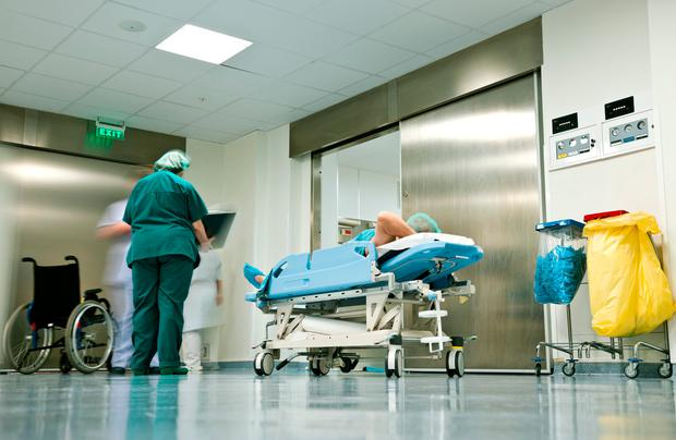 Annual crisis: Last Wednesday there were 677 patients on trolleys in Irish hospitals. Stock photo