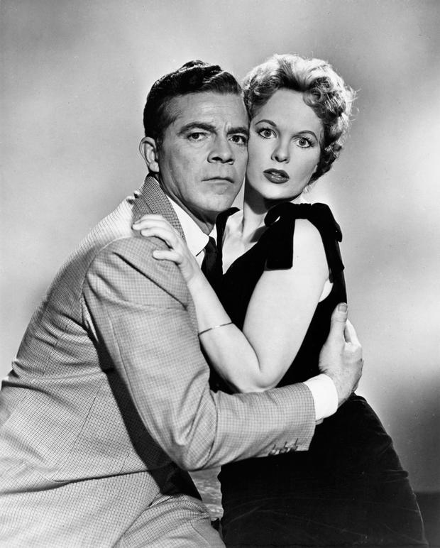Peggy Cummins with Dana Andrews in 1957's Night of the Demon