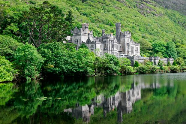 Grand Gothic: Kylemore Abbey is just one of Ireland's historic buildings designed by Peggy's architect great-grandfather