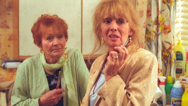 Star power: Doreen Keogh with Sue Johnston in 'The Royle Family'.