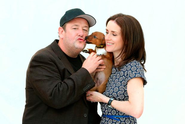 Maia Dunphy and her husband Johnny Vegas. Photo: ©Fran Veale