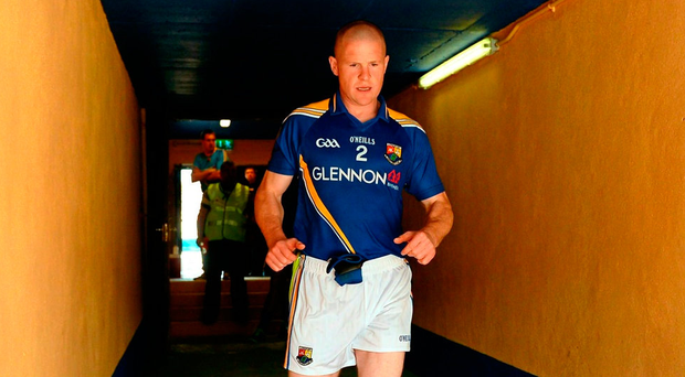 """Longford manager Denis Connerton says Dermot Brady """"is the sort of player you don't replace because of his marvellous leadership qualities. He epitomises all that's good in football; he has great courage, he is a great decision-maker"""" Photo: Oliver McVeigh/Sportsfile"""