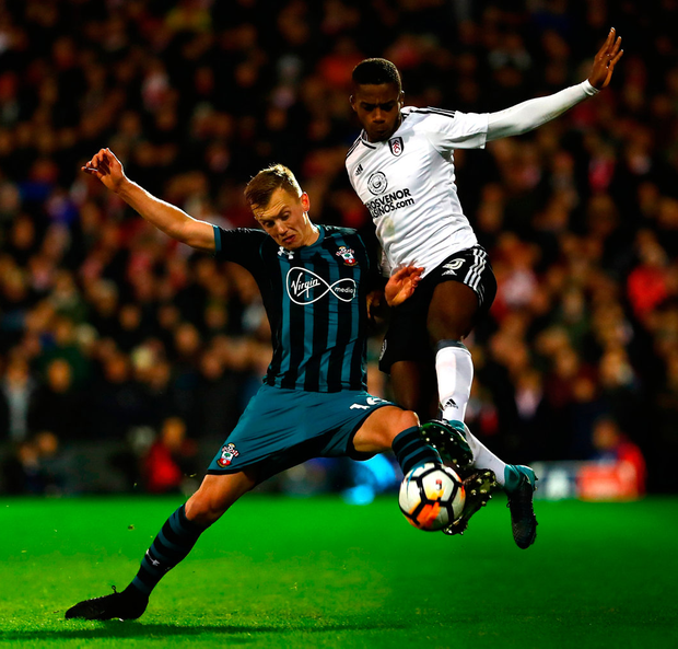 Ryan Sessegnon of Fulham tackles James Ward-Prowse of Southampton Photo: Getty