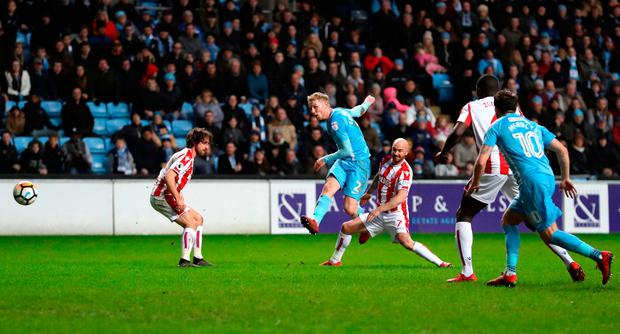 Jack Grimmer of Coventry City scores his sides second goal Photo: Getty