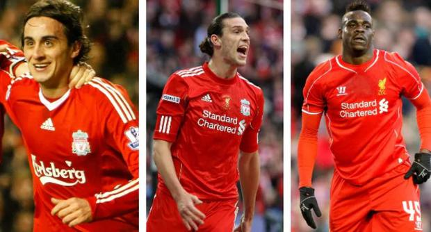 Alberto Aquilani, Andy Carroll and Mario Balotelli