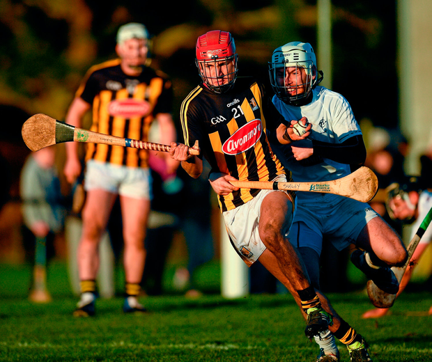 Bill Sheehan of Kilkenny in action against Paul Sullivan of Kildare. Photo by Ray McManus/Sportsfile