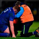 Tadhg Furlong receives medical attention