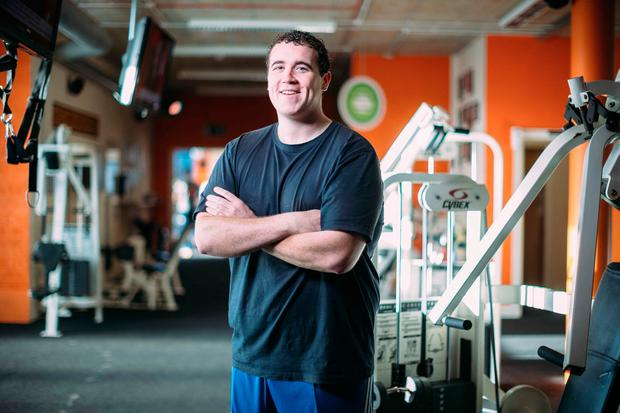 Liam O'Brien at Ozone gym in Ennis Co Clare. Photograph by Eamon Ward