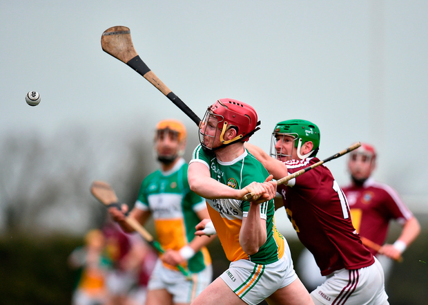 Dan Doughan of Offaly in action against John Gilligan of Westmeath. Photo by Seb Daly/Sportsfile