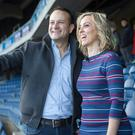 Taoiseach Leo Varadkar and TV presenter Kathryn Thomas at the launch of the 2018 Healthy Ireland campaign. Picture by Fergal Phillips