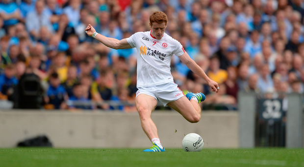 Three Peter Harte points helped Tyrone get a foothold. Photo by Piaras Ó Mídheach/Sportsfile