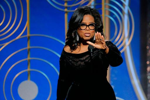Oprah Winfrey accepts the 2018 Cecil B. DeMille Award speaks onstage during the 75th Annual Golden Globe Awards at The Beverly Hilton Hotel on January 7, 2018 in Beverly Hills, California. (Photo by Paul Drinkwater/NBCUniversal via Getty Images)
