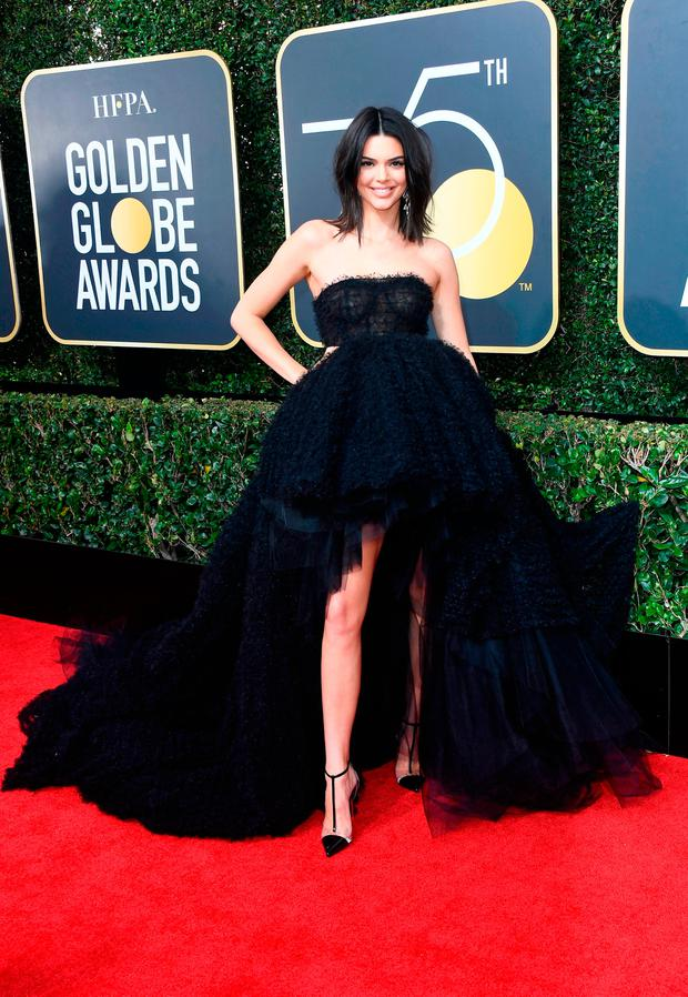Model Kendall Jenner attends The 75th Annual Golden Globe Awards at The Beverly Hilton Hotel on January 7, 2018 in Beverly Hills, California. (Photo by Frazer Harrison/Getty Images)