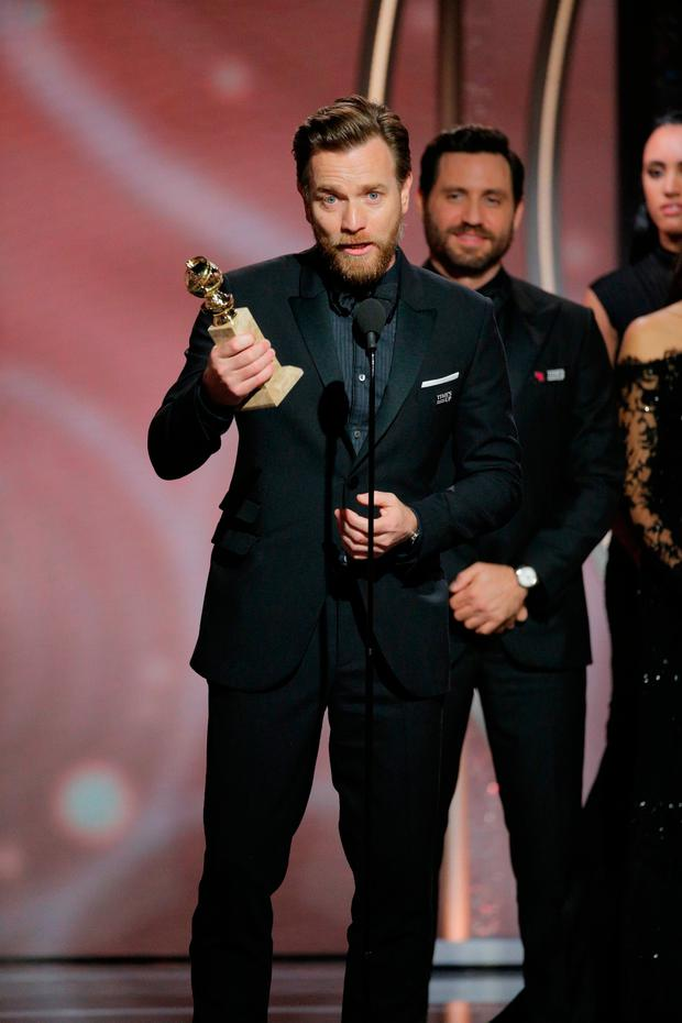 Image result for Ewan McGregor golden globes