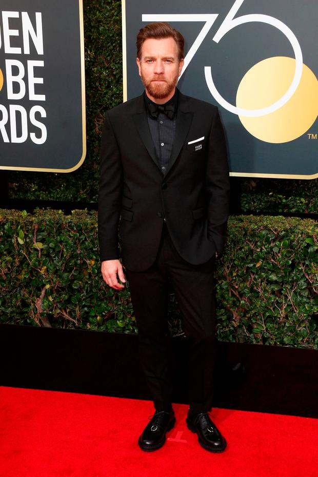 Ewan McGregor attends The 75th Annual Golden Globe Awards at The Beverly Hilton Hotel on January 7, 2018 in Beverly Hills, California. (Photo by Frederick M. Brown/Getty Images)