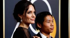 Angelina Jolie at the 75th Golden Globe Awards. Picture: REUTERS/Mario Anzuoni