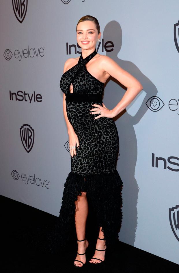 Model Miranda Kerr attends the 19th Annual InStyle And Warner Bros. Pictures Golden Globe After-Party on January 7, 2018, in Beverly Hills, California. / AFP PHOTO / TARA ZIEMBATARA ZIEMBA/AFP/Getty Images