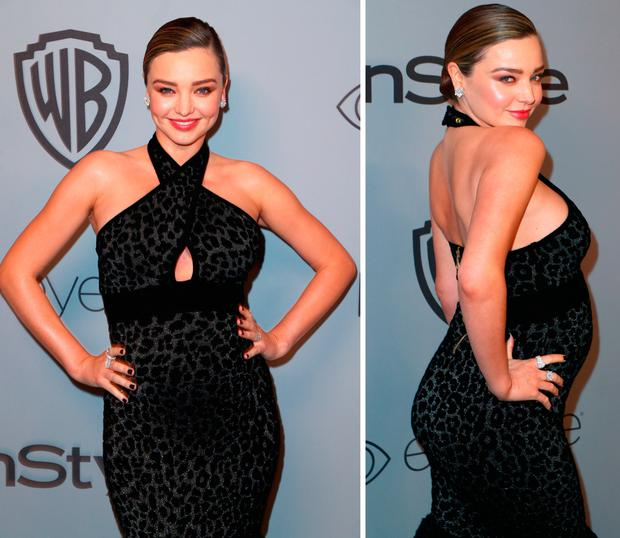 Miranda Kerr at the Golden Globes