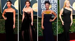(L to R) Zoe Kravitz, Jessica Biel, Samira Wiley and Reese Witherspoon at the Golden Globes
