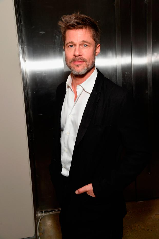 Brad Pitt attends the 7th Annual Sean Penn & Friends HAITI RISING Gala benefiting J/P Haitian Relief Organization on January 6, 2018 in Hollywood, California. (Photo by Michael Kovac/Getty Images for for J/P HRO Gala)