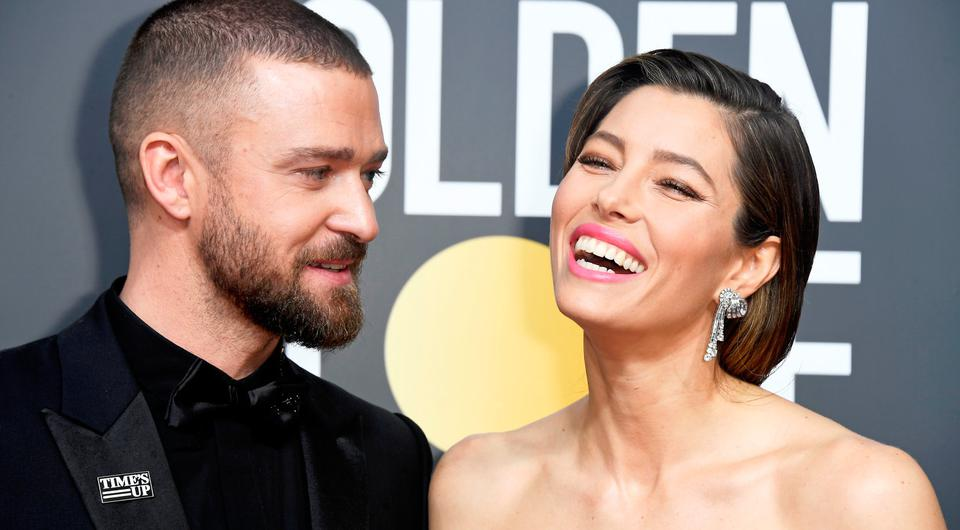 BEVERLY HILLS, CA - JANUARY 07: Actor/singer Justin Timberlake and actor Jessica Biel attend The 75th Annual Golden Globe Awards at The Beverly Hilton Hotel on January 7, 2018 in Beverly Hills, California. (Photo by Frazer Harrison/Getty Images)
