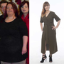 Edel Quigley, before and after her nine stone weight loss.
