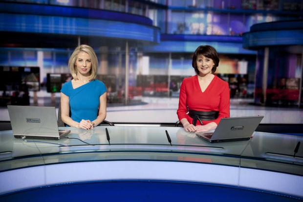 Keelin Shanley and Caitriona Perry ahead of RTE's Six One