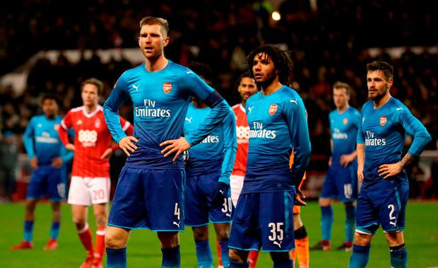 Arsenal were humiliated by Nottingham Forest in the FA Cup