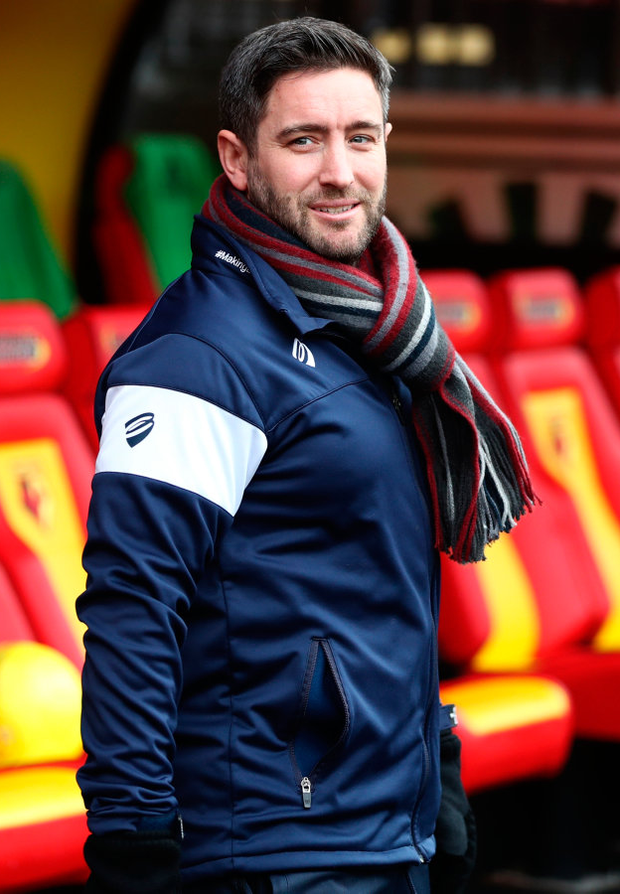 Bristol City boss Lee Johnson is hoping to upset the odds and add Manchester City to his growing list of Premier League scalps in the Carabao Cup Photo: Catherine Ivill/Getty Images