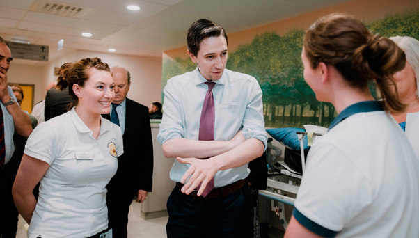 Health Minister Simon Harris visiting University Hospital Limerick's new A&E department last year. Photo: Brian Arthur