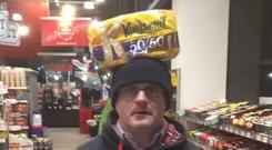 A screenshot from the video posted to Sinn Fein politician Barry McElduff's timeline.