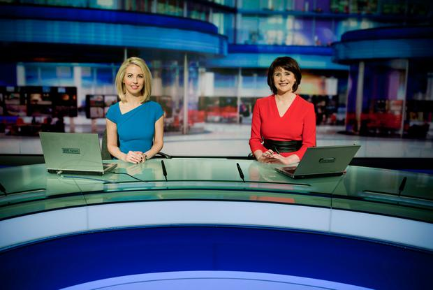 RTÉ 'Six One News' presenters Caitriona Perry (left) and Keelin Shanley Photo: John C Cooney