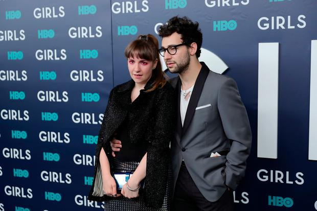 Actress Lena Dunham and Musician Jack Antonoff attend the New York Premiere of the Sixth & Final Season