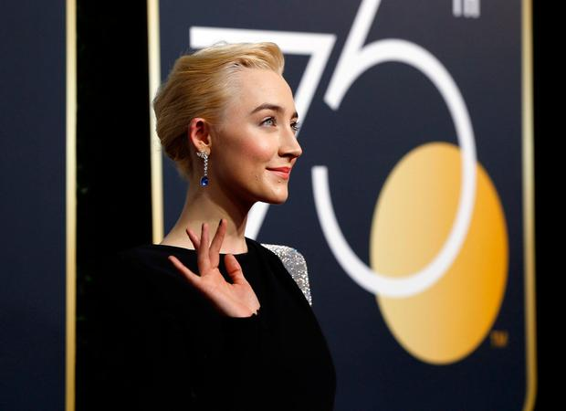 Saoirse Ronan at the 75th Golden Globe Awards