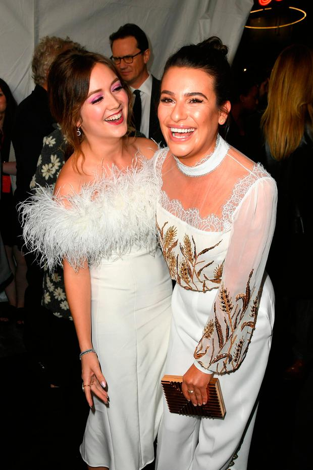Actors Billie Lourd and Lea Michele attend the premiere of FX's