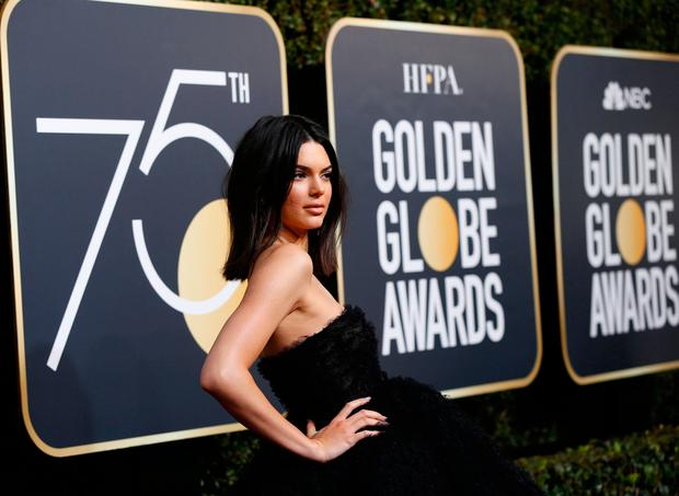 Kendall Jenner at the 75th Golden Globe Awards. REUTERS/Mario Anzuoni