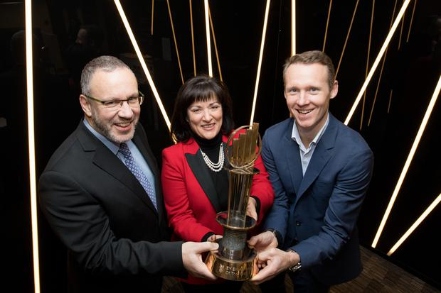 Kevin McLoughlin, Partner, EY; Anne Heraty, Chairperson of the judging panel and Jack Teeling, Emerging EY Entrepreneur Of The Year 2017