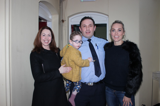 Operation Transformation leader Garda David Cryan with Kathryn Thomas and his family. PIC: RTE