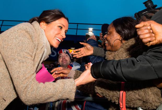Meghan Markle meets members of the public following a visit to youth-orientated radio station Reprezent FM in Brixton Dominic Lipinski  PA Wire