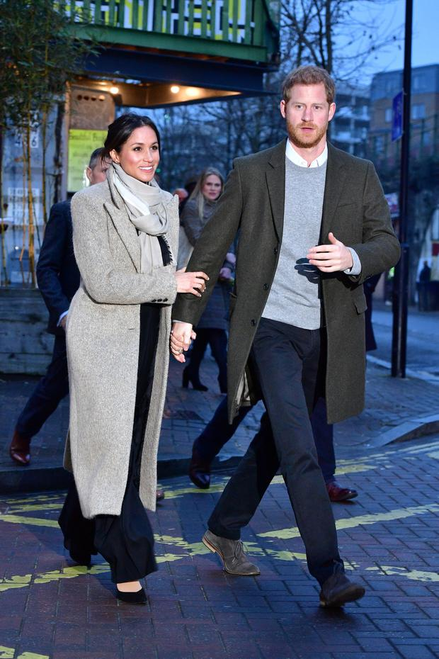 Britain's Prince Harry and his fiancee Meghan Markle leave after visiting radio station Reprezent FM, in Brixton REUTERS/Dominic Lipinski