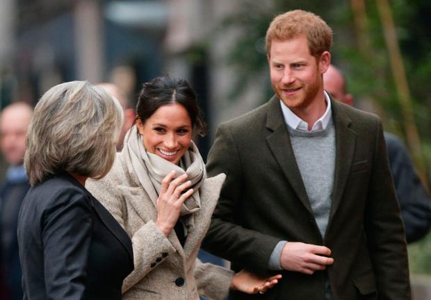 Prince Harry and Meghan Markle arriving for a visit to youth-orientated radio station, Reprezent FM, in Brixton Yui Mok/PA Wire
