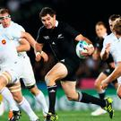 Stephen Donald on the charge for New Zealand during the 2011 World Cup final. Photo: Phil Walter/Getty Images