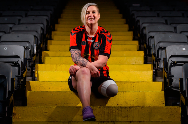 Amanda King at the launch of the new Bohemian FC amputee team at Dalymount Park. Picture: Sportsfile