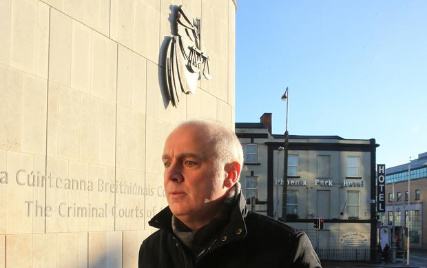David Drumm arrives in court. Pic by Gerry Mooney