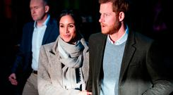 Prince Harry and Meghan Markle visit Reprezent 107.3FM on January 9, 2018 in London, England. The Reprezent training programme was established in Peckham in 2008, in response to the alarming rise in knife crime, to help young people develop and socialise through radio. (Photo by Jack Taylor/Getty Images)