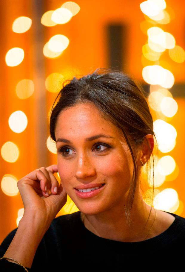 Meghan Markle visits Reprezent 107.3FM in Pop Brixton on January 9, 2018 in London, England. The Reprezent training programme was established in Peckham in 2008, in response to the alarming rise in knife crime, to help young people develop and socialise through radio. (Photo by Dominic Lipinski - WPA Pool/Getty Images)