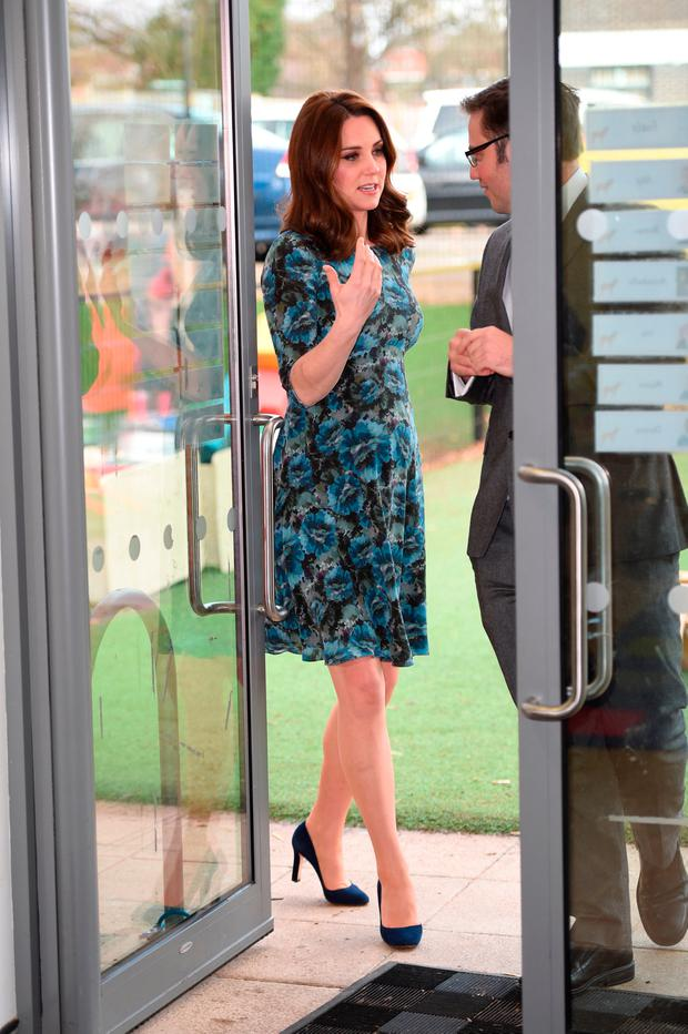 Catherine, Duchess of Cambridge visits the Reach Academy with Place2Be on January 10, 2018 in London, England
