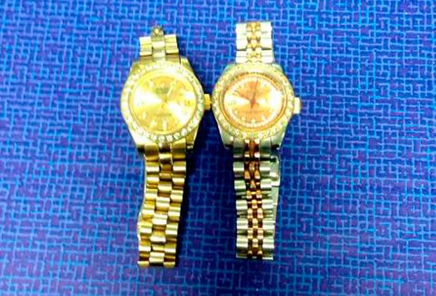 Undated handout photo issued by An Garda Siochana of two Rolex watches that have been seized by gardai in a crackdown on organised crime. Photo: An Garda Siochana/PA Wire